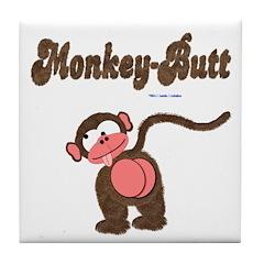 Monkey-Butt Tile Coaster