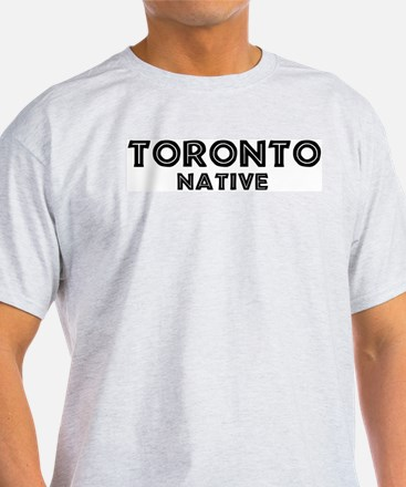 Toronto Native Ash Grey T-Shirt