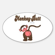 Monkey-Butt Oval Decal