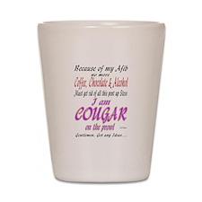 Cougar Afib Shot Glass