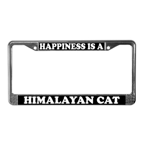Happiness Is A Himalayan Cat License Plate Frame