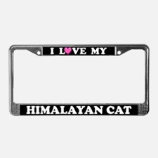 I Love My Himalayan Cat License Plate Frame