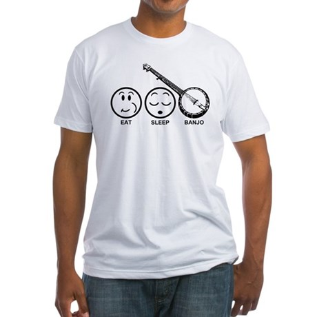Eat Sleep Banjo Fitted T-Shirt