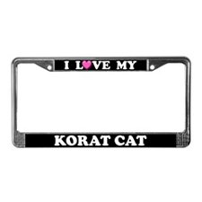 I Love My Korat Cat License Plate Frame