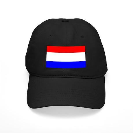 Netherlands National Flag Black Cap