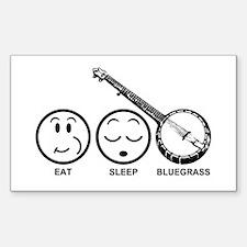 Eat Sleep Bluegrass Decal