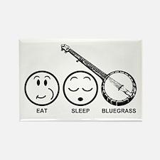 Eat Sleep Bluegrass Rectangle Magnet
