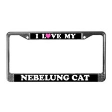 I Love My Nebelung Cat License Plate Frame
