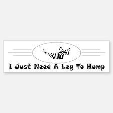 Hump Bumper Bumper Bumper Sticker