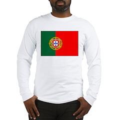 Portuguese Natonal Flag Long Sleeve T-Shirt