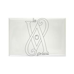 Love White Rectangle Magnet (100 pack)