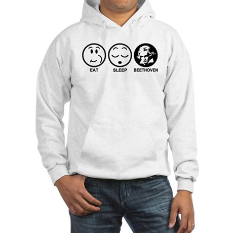 Eat Sleep Beethoven Hooded Sweatshirt