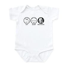 Eat Sleep Beethoven Infant Bodysuit