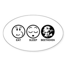 Eat Sleep Beethoven Decal