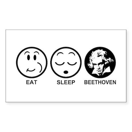 Eat Sleep Beethoven Sticker (Rectangle)
