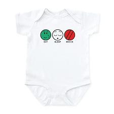 Eat Sleep Bocce Infant Bodysuit