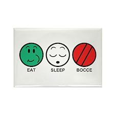Eat Sleep Bocce Rectangle Magnet