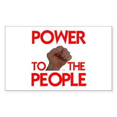 POWER TO THE PEOPLE IIII Sticker (Rectangle 10 pk)