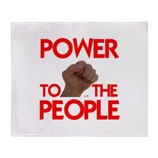 POWER TO THE PEOPLE IIII Throw Blanket