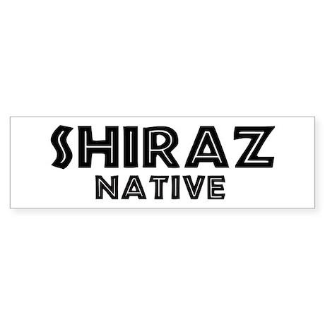 Shiraz Native Bumper Sticker