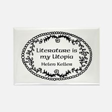 Literary Utopia Rectangle Magnet