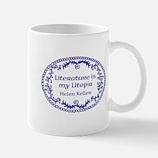 Literary Utopia (blue) Mug