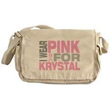 I wear pink for Krystal Messenger Bag