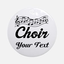 Custom Choir Musical Ornament (Round)