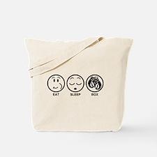 Eat Sleep Box Tote Bag
