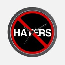 No Haters Wall Clock