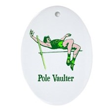 Pole Vaulter Ceramic Ornament