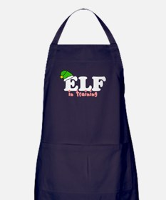 'Elf In Training' Apron (dark)