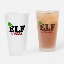'Elf In Training' Drinking Glass