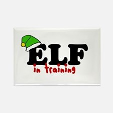 'Elf In Training' Rectangle Magnet