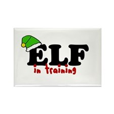 'Elf In Training' Rectangle Magnet (10 pack)