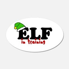 'Elf In Training' 22x14 Oval Wall Peel
