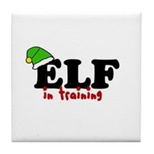 'Elf In Training' Tile Coaster