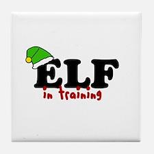 'Elf In Training' Tile Coaster