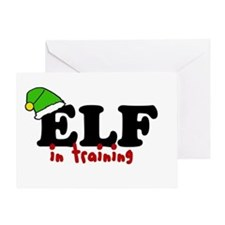 'Elf In Training' Greeting Card