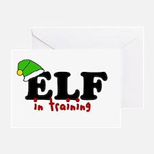 'Elf In Training' Greeting Card