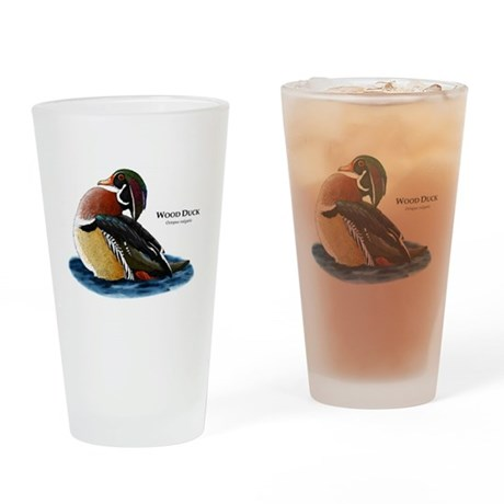 Wood Duck Drinking Glass