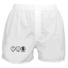 Eat Sleep Economics Boxer Shorts