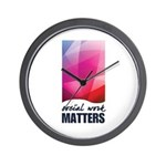 Social Work Matters Wall Clock