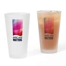 Social Work Matters Drinking Glass