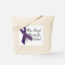 Wear Purple for my Hero Tote Bag