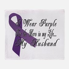 Wear Purple for my Hero Throw Blanket