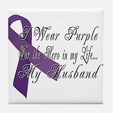 Wear Purple for my Hero Tile Coaster