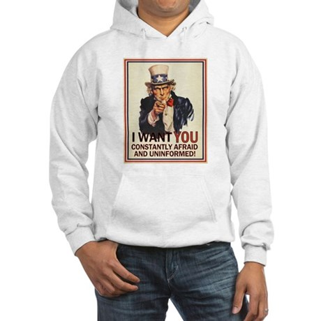 Afraid & Uniformed Hooded Sweatshirt