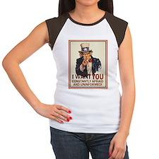 Afraid & Uniformed Women's Cap Sleeve T-Shirt