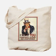 Afraid & Uniformed Tote Bag